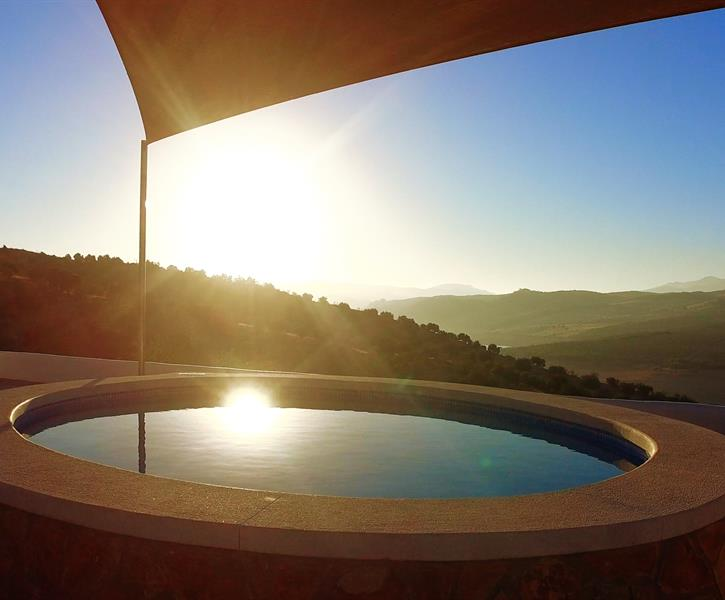 The plunge pool and view from the terrace.