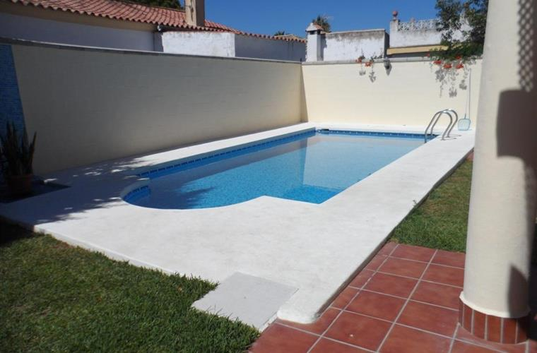 Outside pool with terrace area