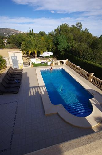 The Large 8X4m pool viewed from the upstairs balcony