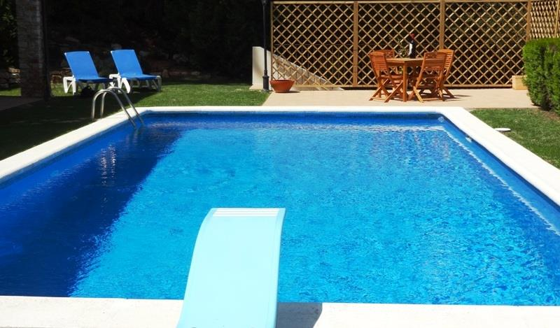 large pool and diving board