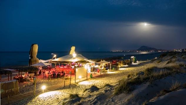 Oli baba beach bar on Oliva beach