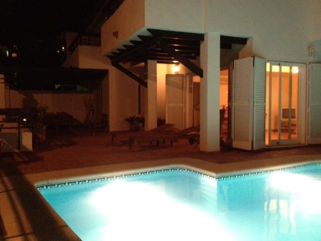 Villa & Pool By Night