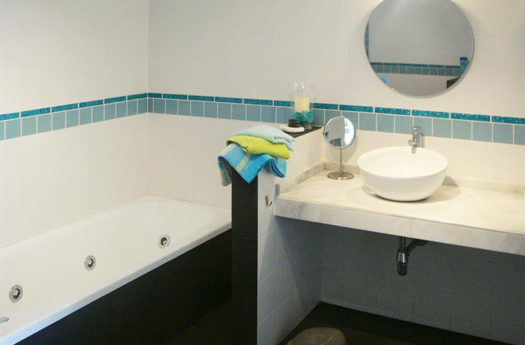 Second bathroom on pool level (when renting for 7-13 persons)