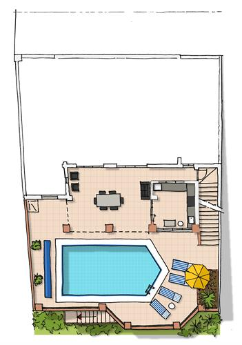 Overview of pool level (up to 6 persons)