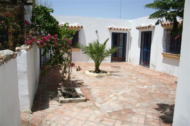 Enclosed typical Andalucian patio