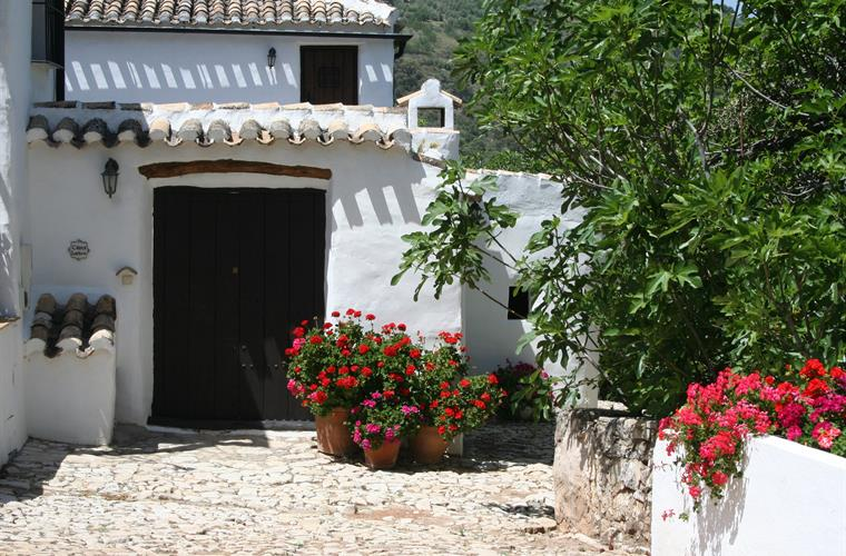 Main entrance to Casita Liebre, Cortijo las Rosas