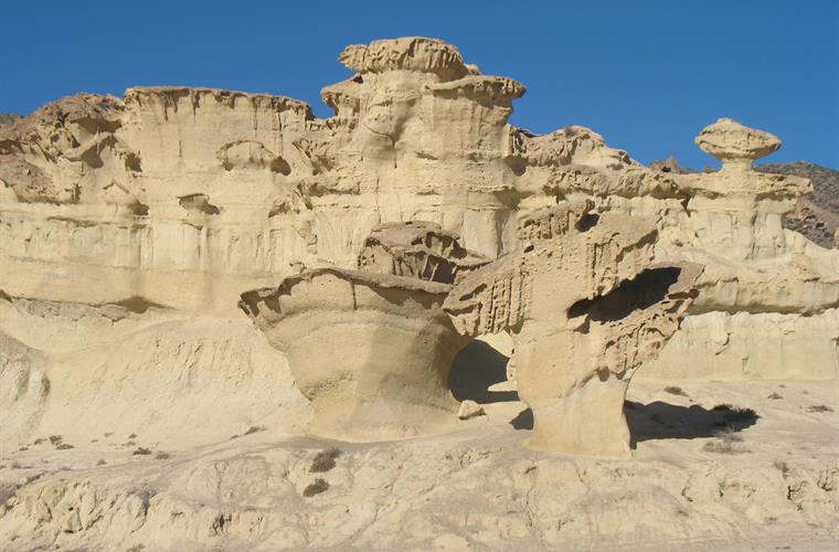 The world famous sandstone erosions