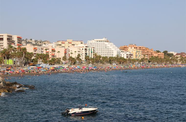 Playa San Christobal, just around the corner at less  than 1 mile