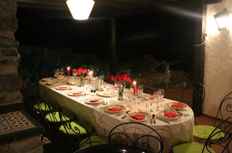 dining table outside terrace