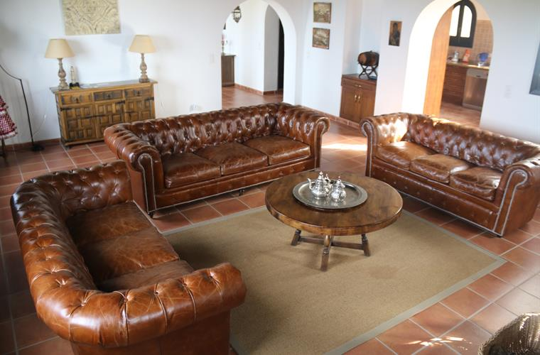 The living room in Andalusian finca style