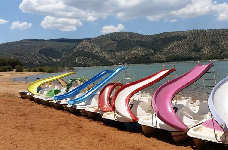 Pedaloes For Rent At Iznajar Beach And Lake 5 Minutes Drive Away