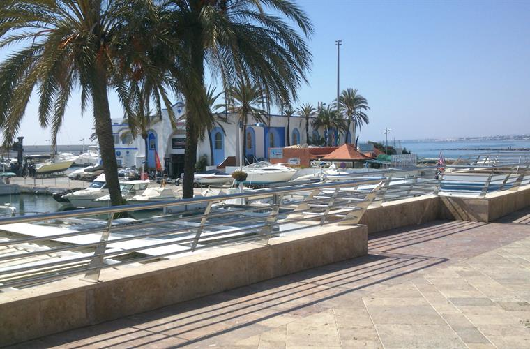 Port Marbella in front of apartment