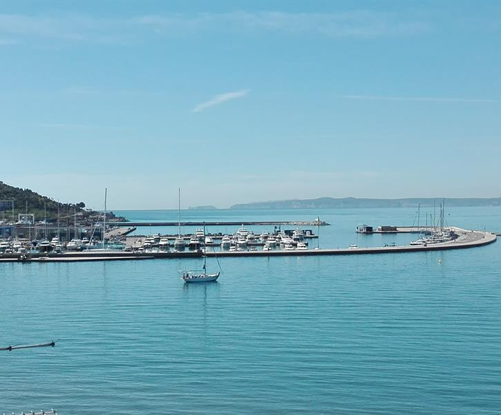 View from Studio overlooking the marina and Trinitat Castle!