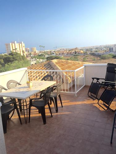 Rooftop views of coast and Torrevieja