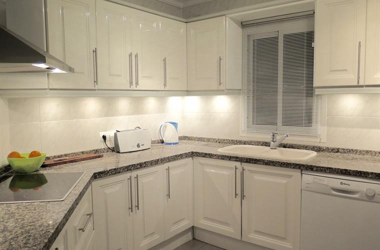 Sparkling kitchen with all new appliances