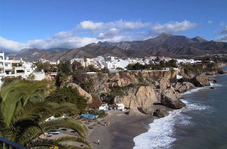 Nerja, a pretty town perched on the Mediterranean coast