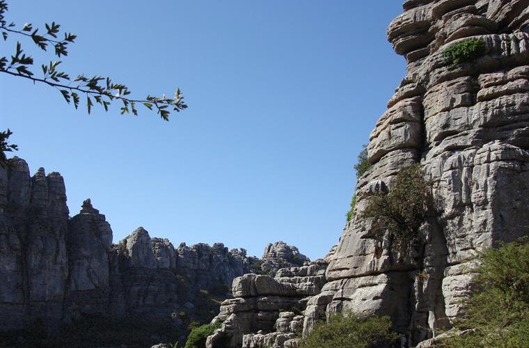 The dramatic landscapes of El Torcal