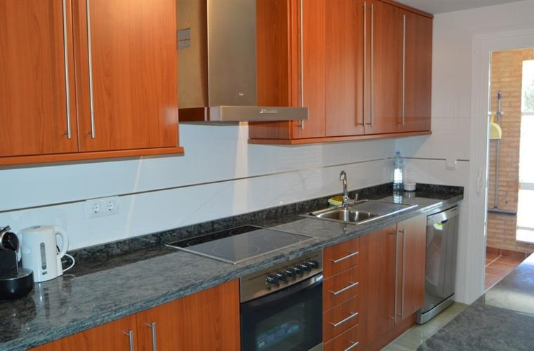 Large fully equipped kitchen with separtate utility room