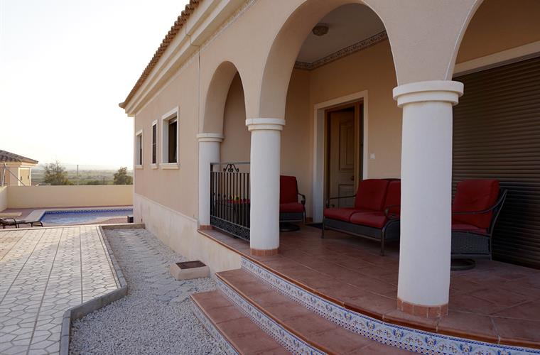 Villa entrance and front terrace