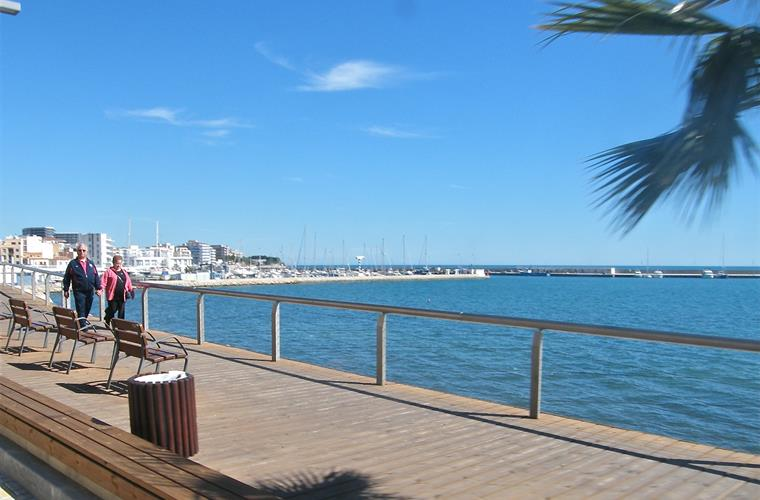 Maritime boardwalk that stretches the length of the village
