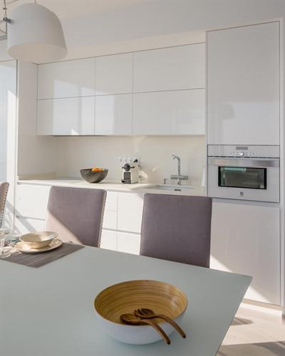Luxury open kitchen with nespresso and filtered water from the tap