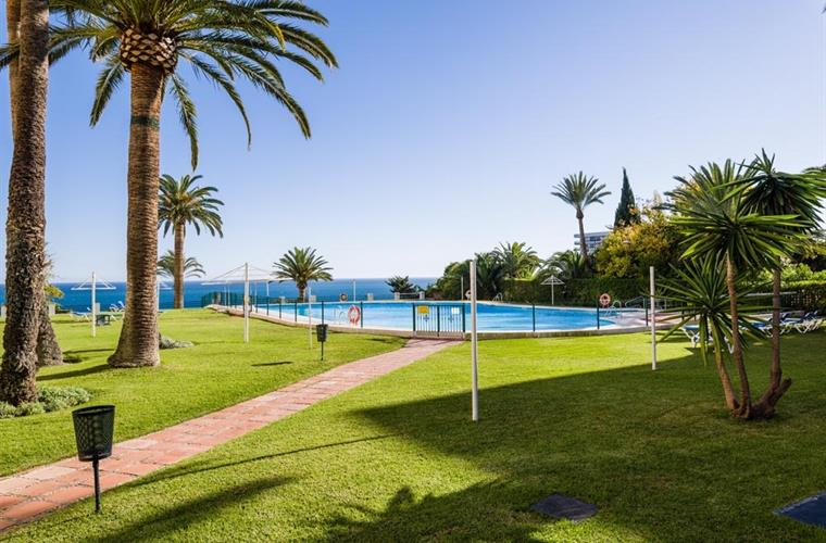 The garden and swimming pool are well maintained all year round