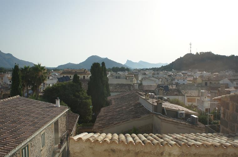 Morningview over Pollensa and bay from bedroom