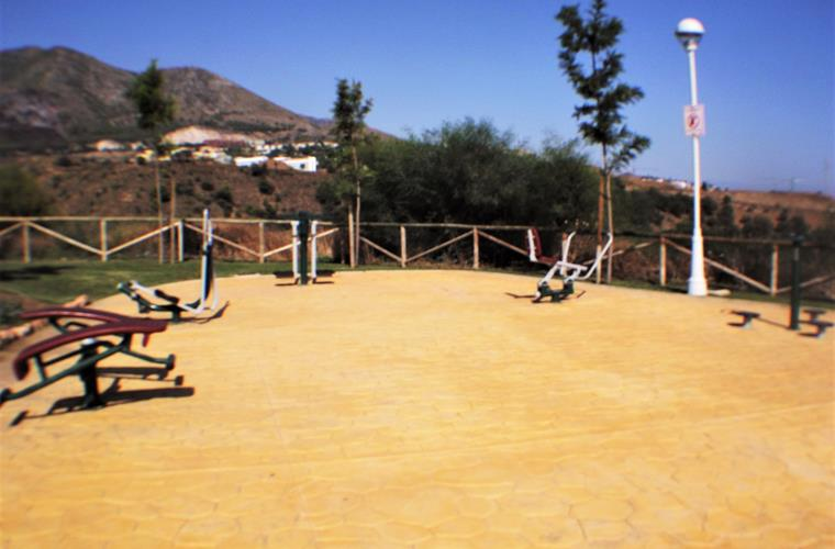 Outdoor gym directly in front of the villa.