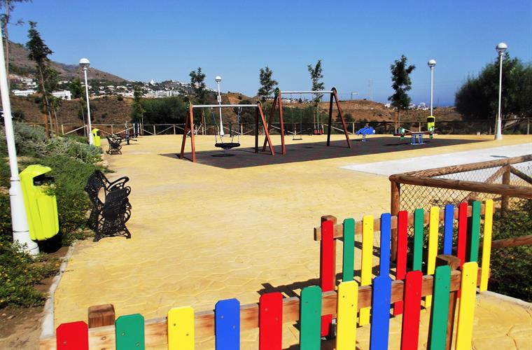 Playground and Petanque court directly in front of the villa
