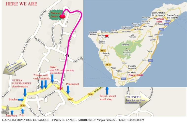 map of village/tenerife