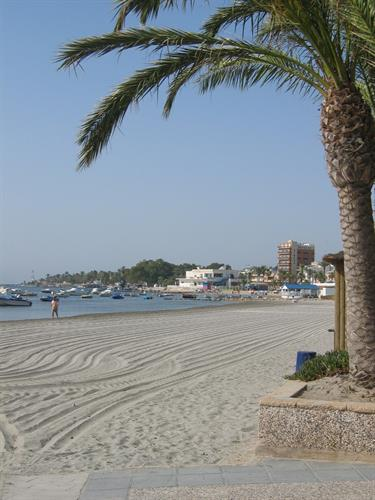 One of the many beaches along the Mar Menor.