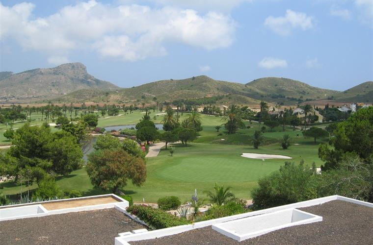 View over one of the golf courses at La Manga.  10 minutes away!