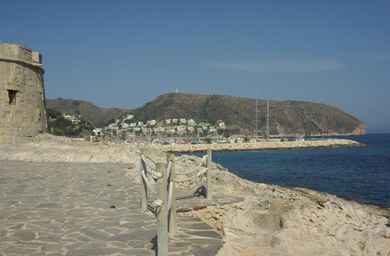 Moraira castle and seafront