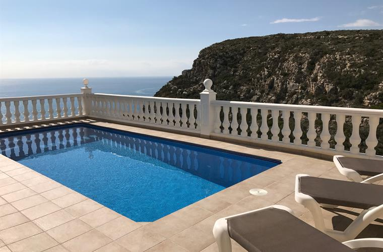 The luxury of your own private heated pool with stunning sea views