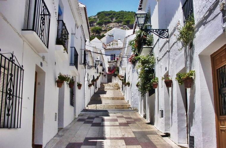 Typical Andalusian street, Mijas 12 minutes by car.