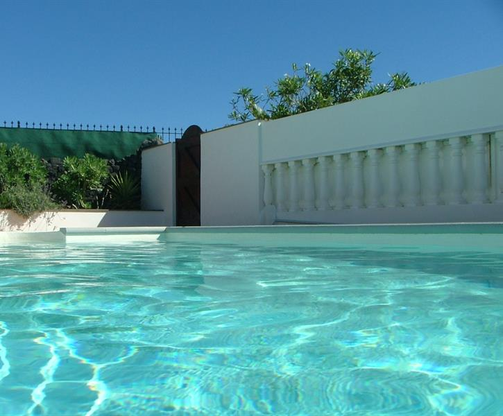 The villa has a large private heated pool