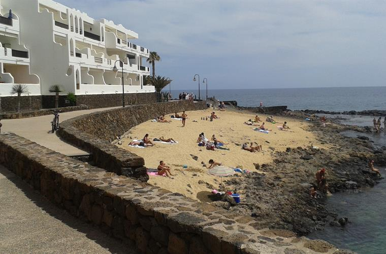One of  the El Jabillo beaches and  rock pools.