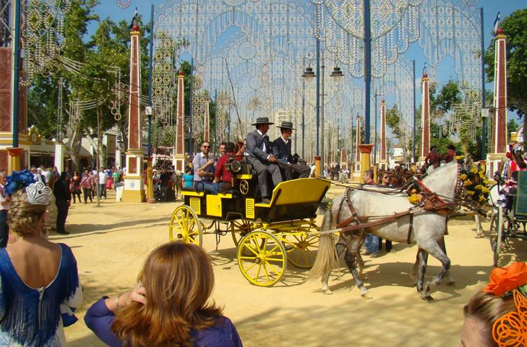 Jerez horse fiesta in May