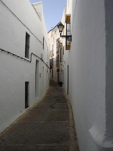 Narrow cobbled streets in the old town