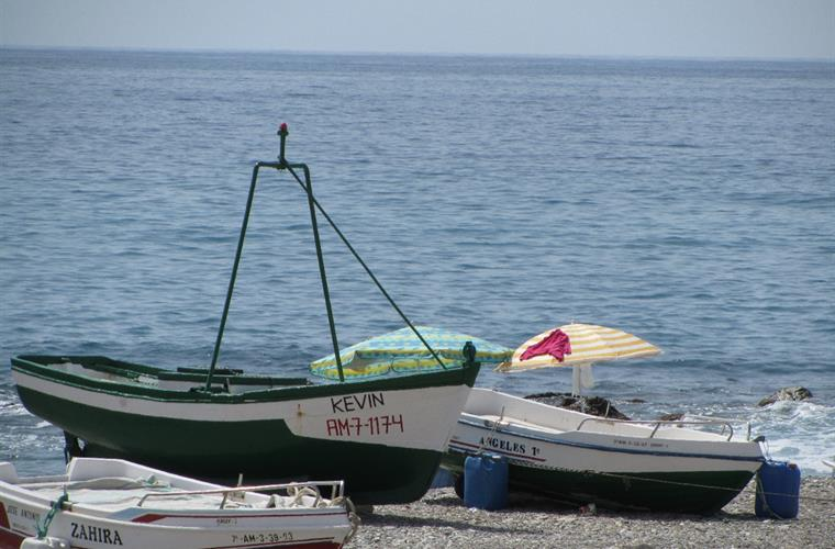 Fishing boats on the beach at Castell de Ferro