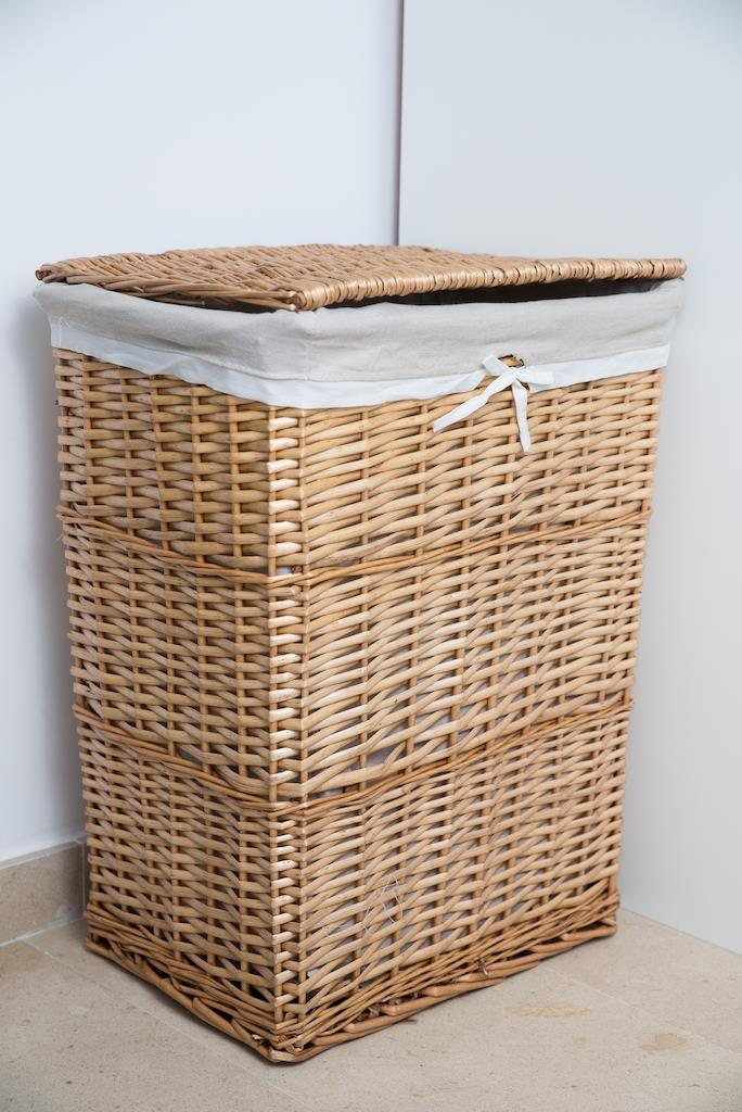 Bedrooms. Laundry basket.