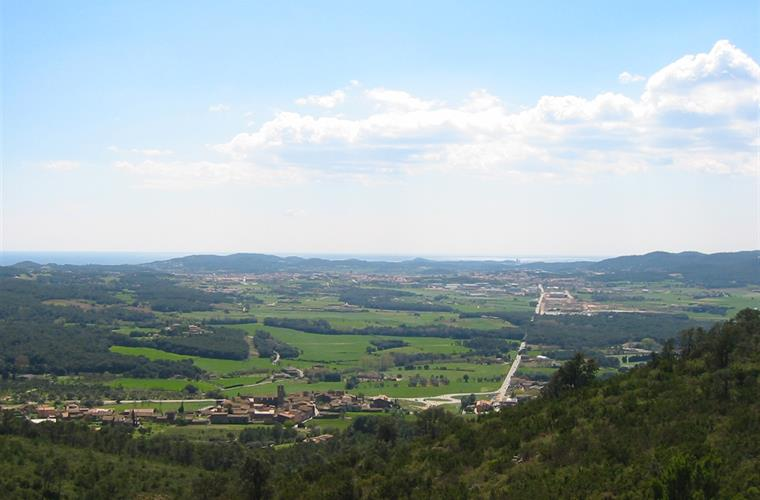 view from Regencos towards Palafrugell