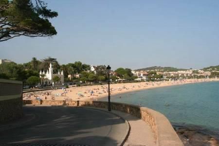 Sant Pol beach, one of the best beaches in the area.