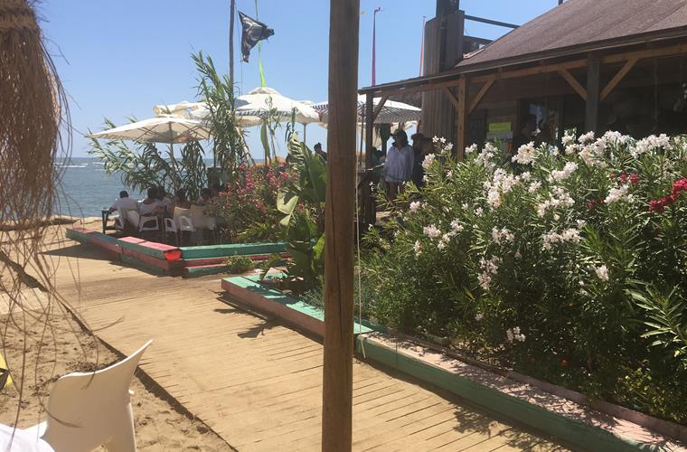 Beach bar in Isla Canela