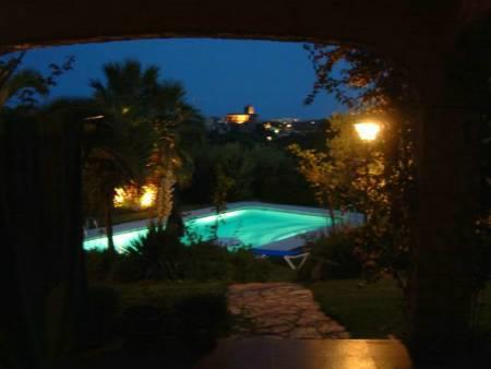 By night;pool, Calonge, sealine