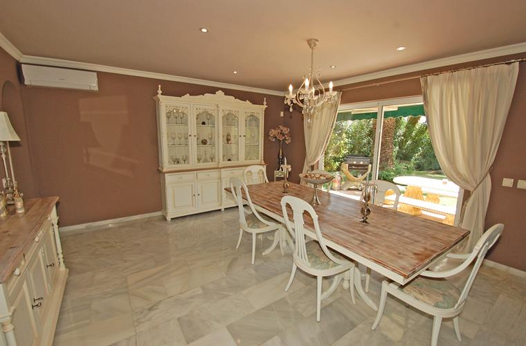 Dining Room with patio doors to terrace dining area/BBQ area