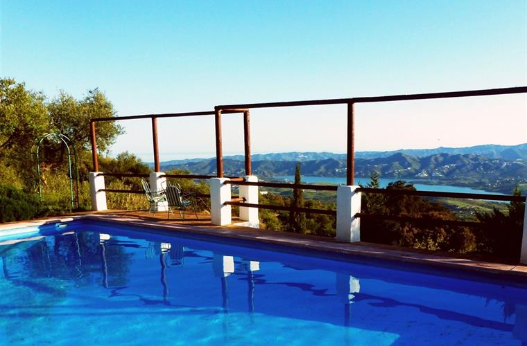 Stunning Swimming Pool with fabulous Lake and Sea Views