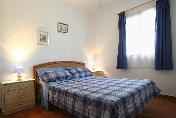 The double bed room in villa Palma