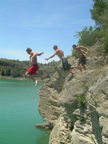 Lake Chorro- Adventure Consultants take a leap of faith