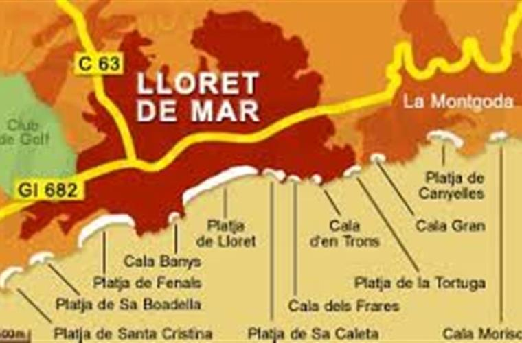 Maps of Beach in lloret de Mar